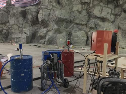 影视基地假山道具施工